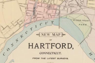 Map of Hartford 1896, detail